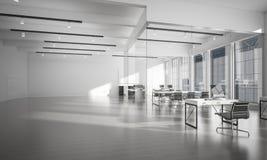Conception intérieure de bureau dans la couleur de whire et rayons de lumière de victoire Photographie stock