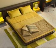 Conception intérieure de chambre à coucher. Élégant et de luxe. Photographie stock libre de droits