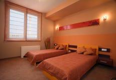 Conception intérieure de chambre à coucher élégante et de luxe. Image libre de droits