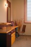 Conception intérieure de chambre à coucher élégante et de luxe. Images stock