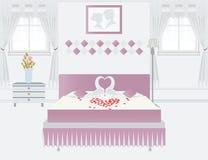 Conception intérieure de chambre à coucher Photos stock