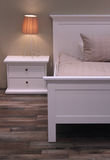 Conception intérieure de chambre à coucher de vieux type. Images stock