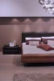 Conception intérieure de chambre à coucher moderne. Photos stock