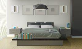 Conception intérieure de chambre à coucher moderne illustration de vecteur