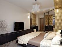 Conception intérieure de chambre à coucher moderne Photos stock