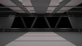 Conception intérieure de couloir de la science fiction illustration stock
