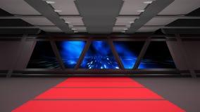 Conception intérieure de couloir de la science fiction Photographie stock libre de droits