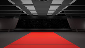 Conception intérieure de couloir de la science fiction Photo stock