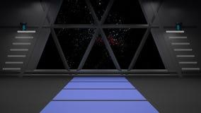 Conception intérieure de couloir de la science fiction 3d rendent illustration libre de droits