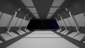Conception intérieure de couloir de la science fiction rendu 3d illustration libre de droits