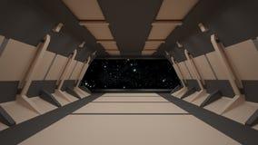 Conception intérieure de couloir de la science fiction rendu 3d Photographie stock