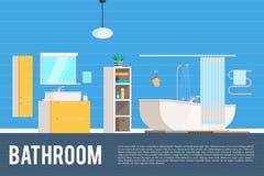 Conception intérieure de pièce de salle de bains Photos stock