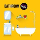 Conception intérieure de salle de bains Image libre de droits