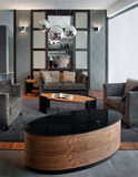 Conception intérieure de salle de séjour. Élégant et de luxe. Images libres de droits