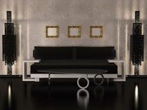Conception intérieure de salle de séjour de luxe illustration libre de droits