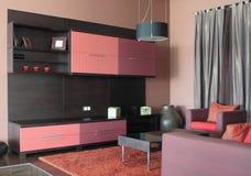 Conception intérieure de salle de séjour moderne. Image stock