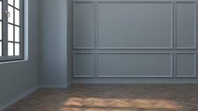 Sofa Sur Le Salon Vide Avec Gray Green Wall Illustration Stock ...