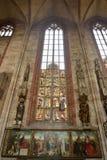 Conception intérieure de St Sebalduskirche à Nuremberg Photographie stock