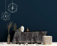 Conception intérieure moderne dans le style contemporain Moquerie vers le haut de mur illustration 3D illustration de vecteur