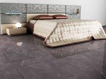 Conception intérieure moderne de chambre à coucher Photo libre de droits