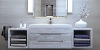Conception intérieure moderne de salle de bains Image libre de droits
