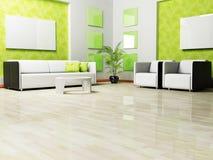 Conception intérieure moderne de salle de séjour illustration de vecteur