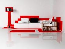 Conception intérieure moderne de salle de séjour Photo stock