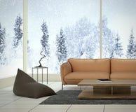 Conception intérieure moderne de salle de séjour Photos stock