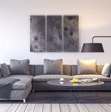 Conception intérieure moderne de salle de séjour Photo libre de droits