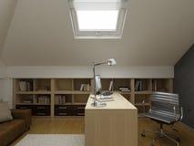 Conception intérieure moderne (l'appartement 3d de privat rendent Photographie stock