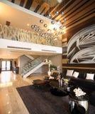 Conception intérieure moderne - salle de séjour Photographie stock libre de droits