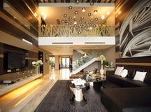 Conception intérieure moderne - salle de séjour Images stock