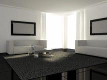 Conception intérieure - salle de séjour moderne illustration de vecteur