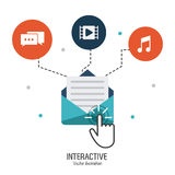 Conception interactive de technologie Photographie stock