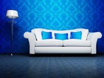 Conception intérieure moderne de salle de séjour Image libre de droits