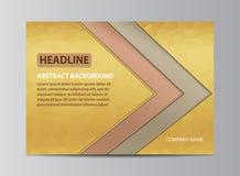 Conception jaune de couverture Image stock