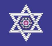 Conception juive d'étoile - illustration illustration libre de droits