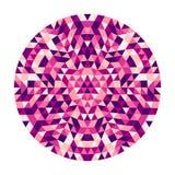 Conception kaléïdoscopique de mandala de triangle géométrique abstraite ronde - art symétrique de modèle de vecteur des triangles illustration libre de droits