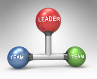 Conception of leadership Stock Images