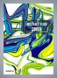 Conception liquide abstraite colorée de vecteur moderne sur le fond blanc Utilisé pour la couverture, présentation, invitation, i images stock