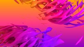 Conception liquide colorée de fond de couleur rendu 3d images stock