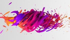 Conception liquide colorée de fond de couleur rendu 3d photos stock