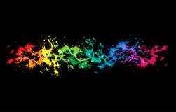 Conception lumineuse colorée de splat d'encre Images libres de droits