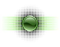 Conception lustrée de bouton Photo stock