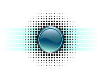 Conception lustrée de bouton Images stock