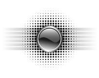 Conception lustrée de bouton Image stock