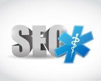 Conception médicale d'illustration de symbole de Seo Images stock