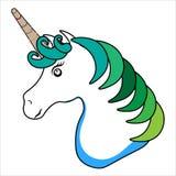 Conception magique de cheval d'imagination de vecteur de licorne pour le T-shirt et les sacs d'enfants illustration de vecteur