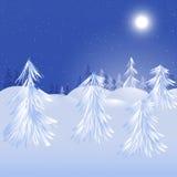 Conception magique de l'hiver Photo libre de droits