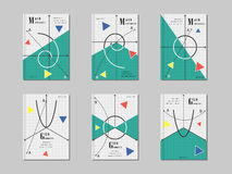 Conception mathématique de couverture Photographie stock